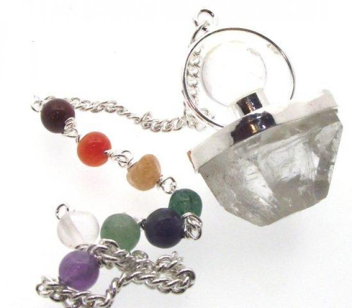 Apophyllite Chakra and Quartz Sphere Pendulum