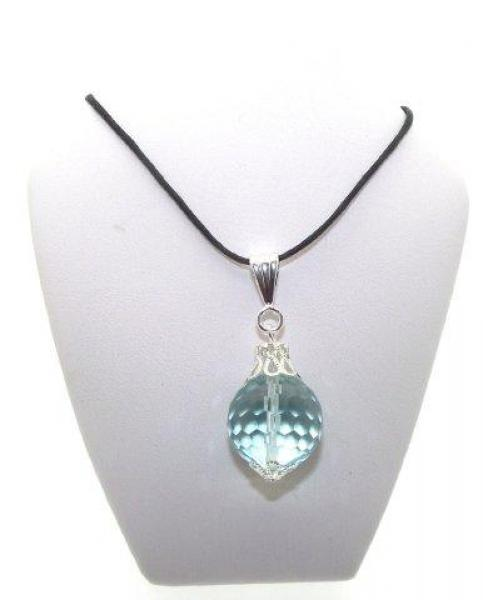 Aquamarine Glass 16mm Sphere Pendant