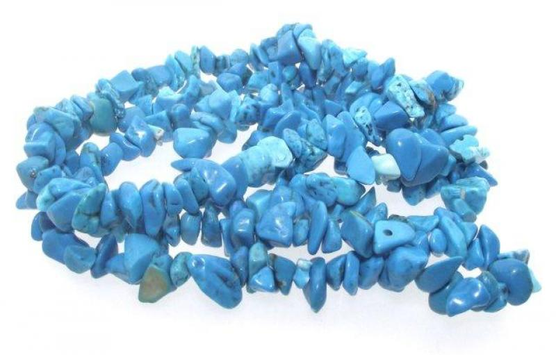 Arizona Blue Turquenite Chip Beads 36 Inch String