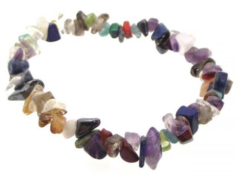 Assorted Gemstone Chip Bracelet