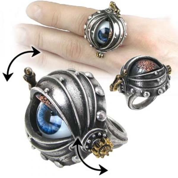 Automaton's Eye Alchemy Gothic Pewter Ring