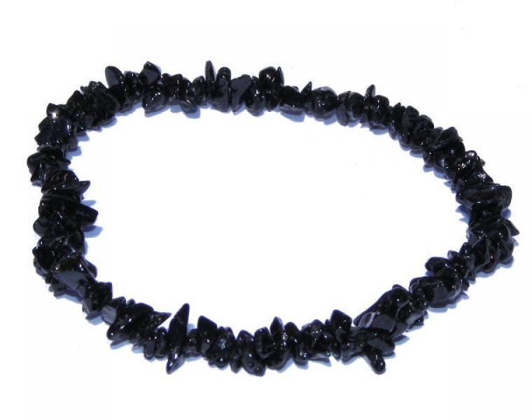 Black Tourmaline Schorl Chip Bracelet