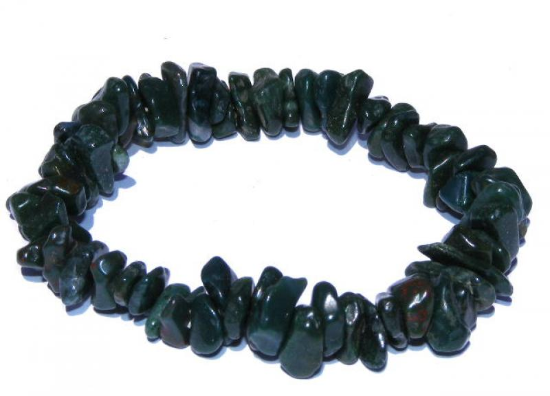 Bloodstone Gemstone / Crystal Chip Bracelet