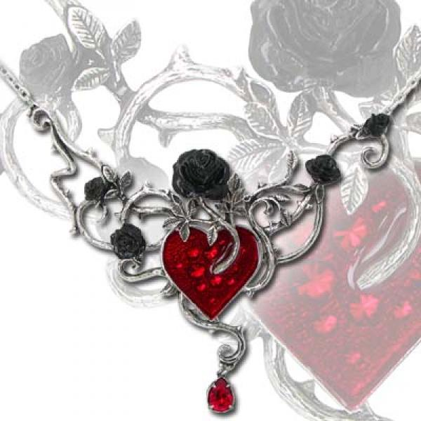 Bed Of Blood-Roses Alchemy Gothic Pewter Pendant