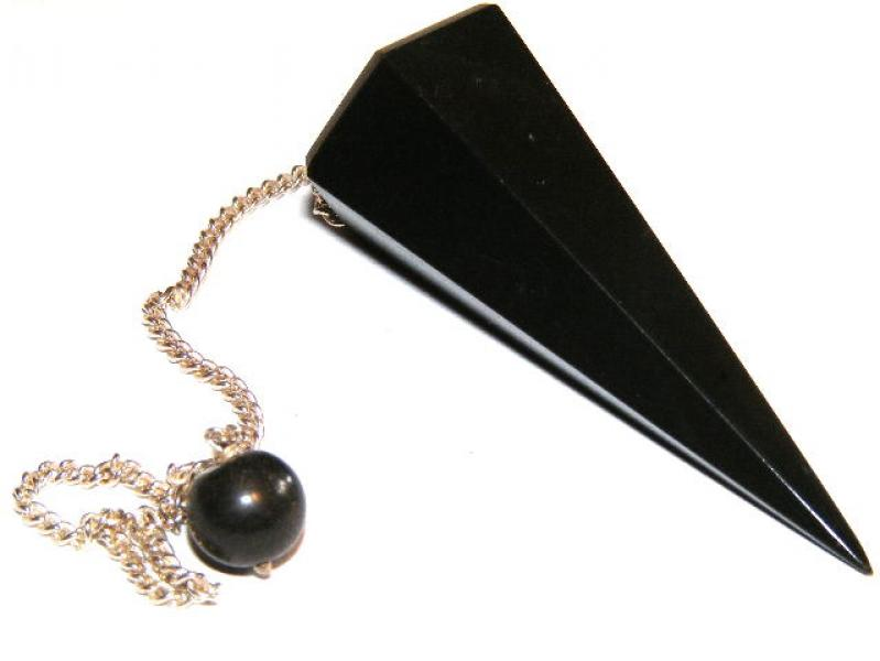 Black Agate Crystal Dowser / Pendulum