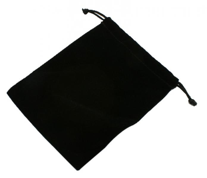 Black Rectangular Large Velvet Pouch Bag
