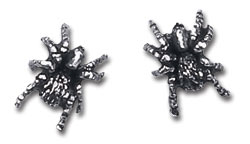 Black Widow studs Alchemy Gothic Pewter (pair)