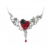 Blood Rose Heart Pendant