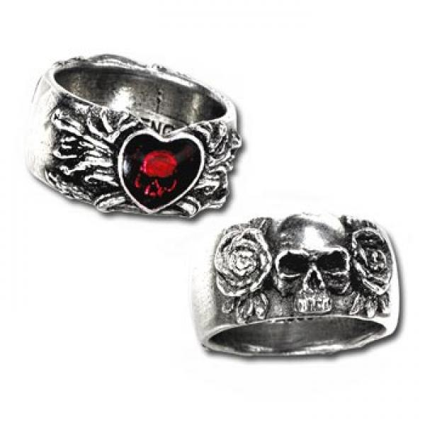 Broken Heart Pewter Ring