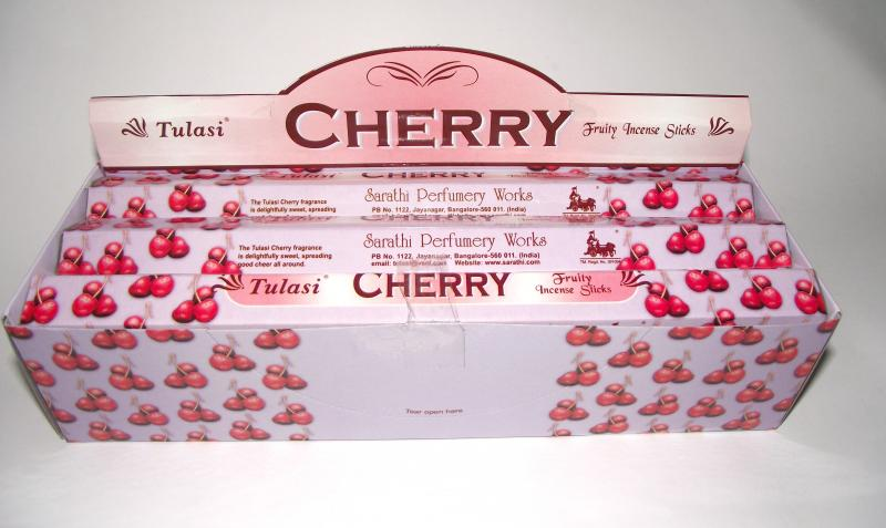 Cherry Incense - Box Of 120 Incense Sticks - TULASI