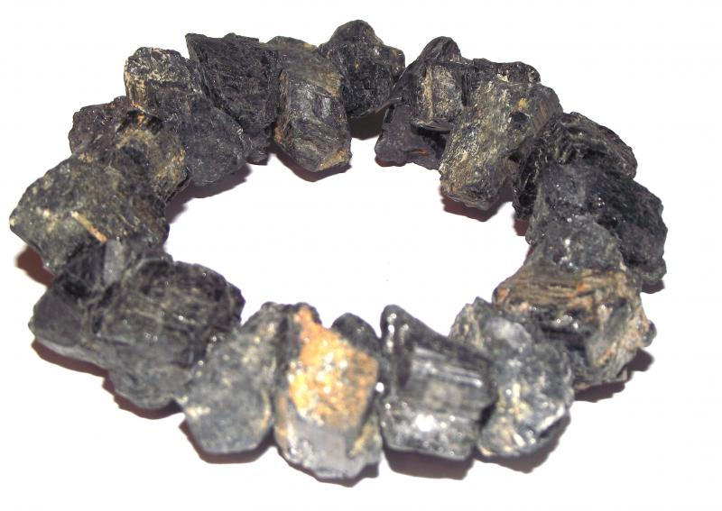 Very Chunky Natural Rough Black Tourmaline Bracelet