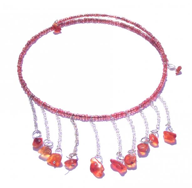 Carnelian Gemstone Choker Design Necklace