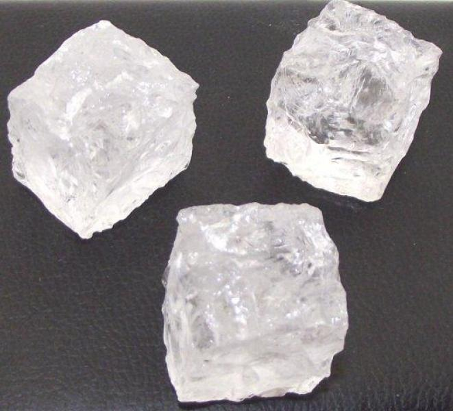 Carved Clear Quartz Ice Cube Shaped Gemstone