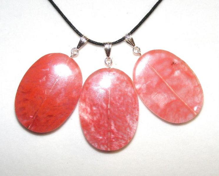 Cherry Quartz Oval Pendants