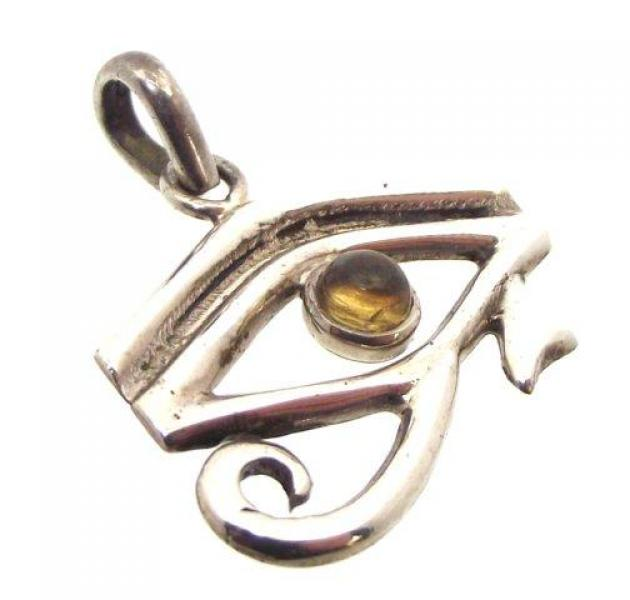 Citrine Eye of Horus Egyptian Pendant