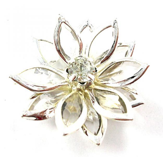 Clear Acrylic Flower Focal Point Bead