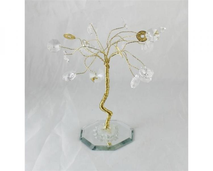 Crystal Wealth and Good Luck Feng Shui Tree Gift Boxed