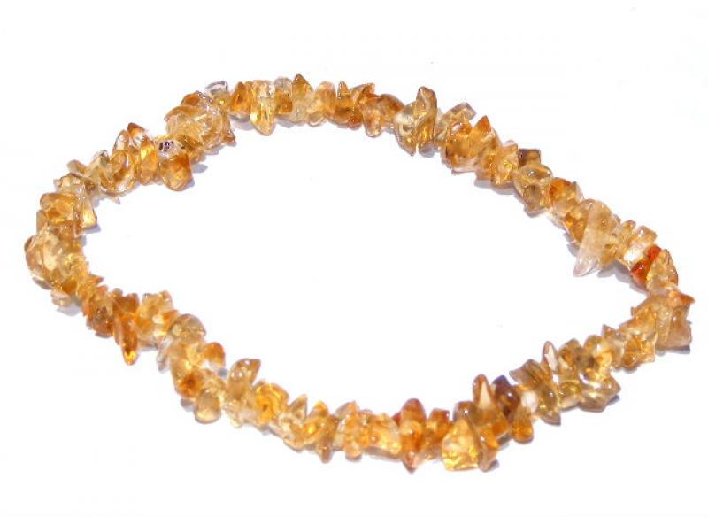 Dark Brazilian Citrine Chip Bracelet