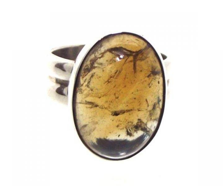 Dark Citrine Gemstone Ring Size Q