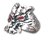 Doomsday Dragon Pewter Ring - Size W