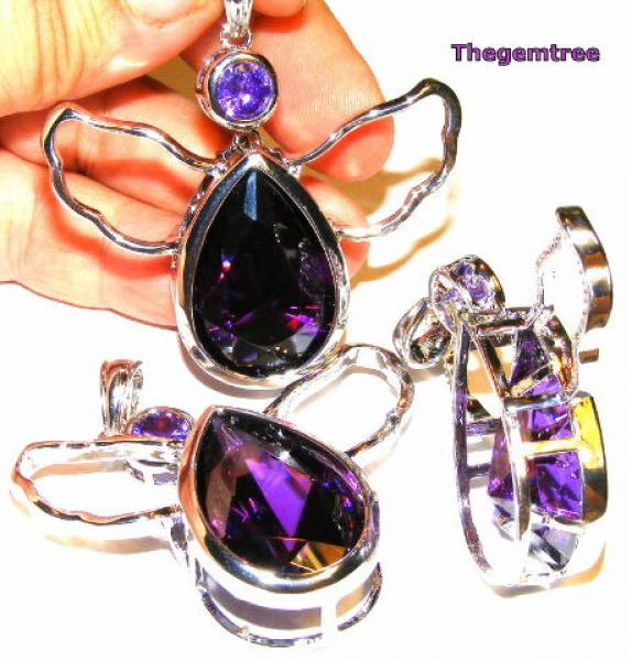 Faceted Amethyst Angel Of Light Pendant