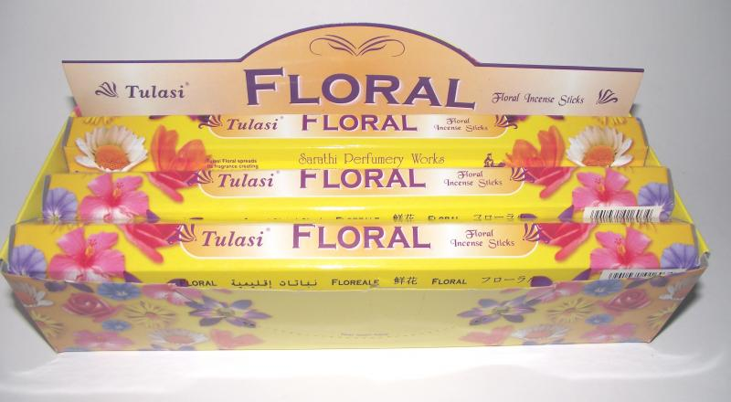 Floral Incense - Box Of 120 Sticks - TULASI