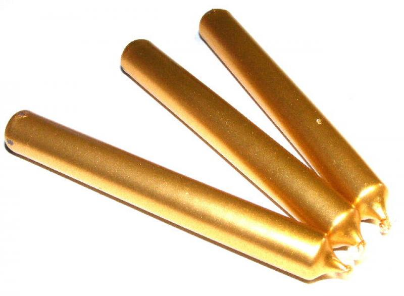Gold Mini Spell Candles Pack Of 3