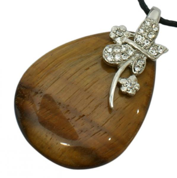 Large Tigers Eye Pendant - Seconds