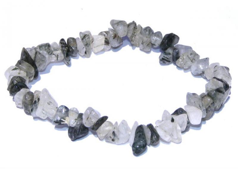 Green Rutilated Quartz Chip Bracelet
