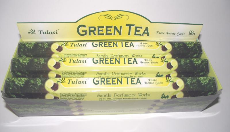Green Tea Incense - Box Of 120 Sticks - TULASI
