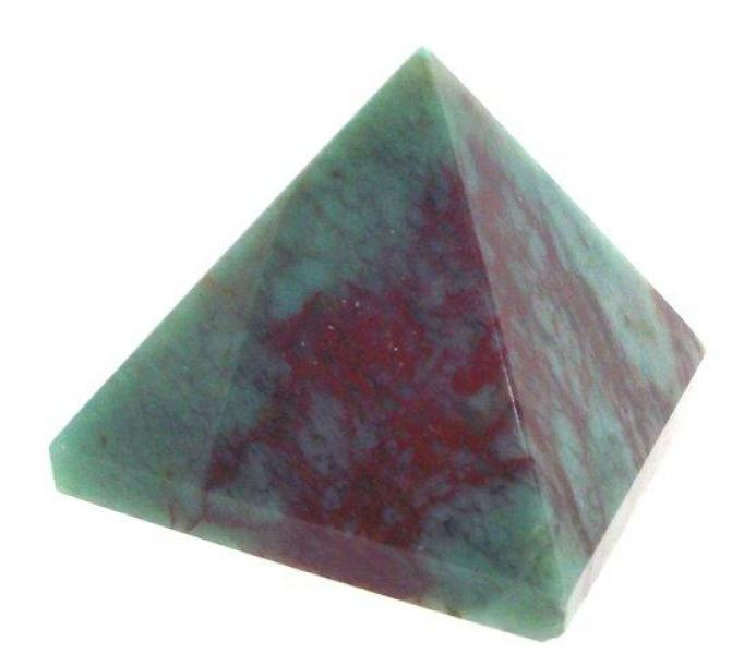 Gemstone Carved Pyramid