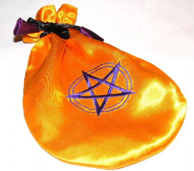 Gold Pentagram Tarot Bag Drawstring Pouch