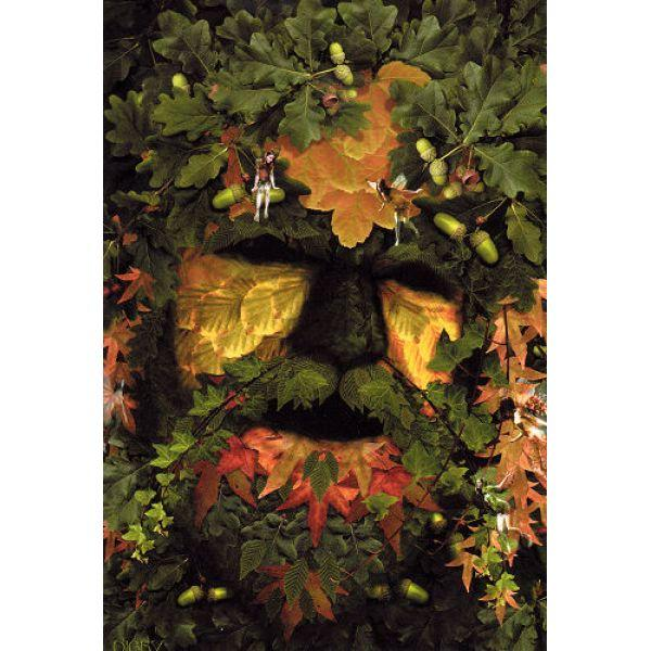 Green Man Card