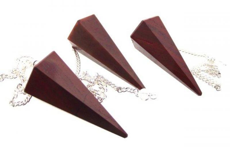 Indian Red Jasper Gemstone Pendulum with Chart