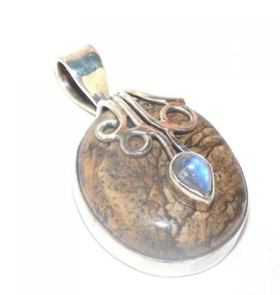 Jasper Luxurious Pendant - Sterling Silver