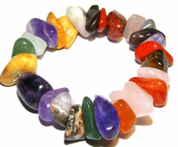 Rainbow Large Mixed Gemstone Bracelet