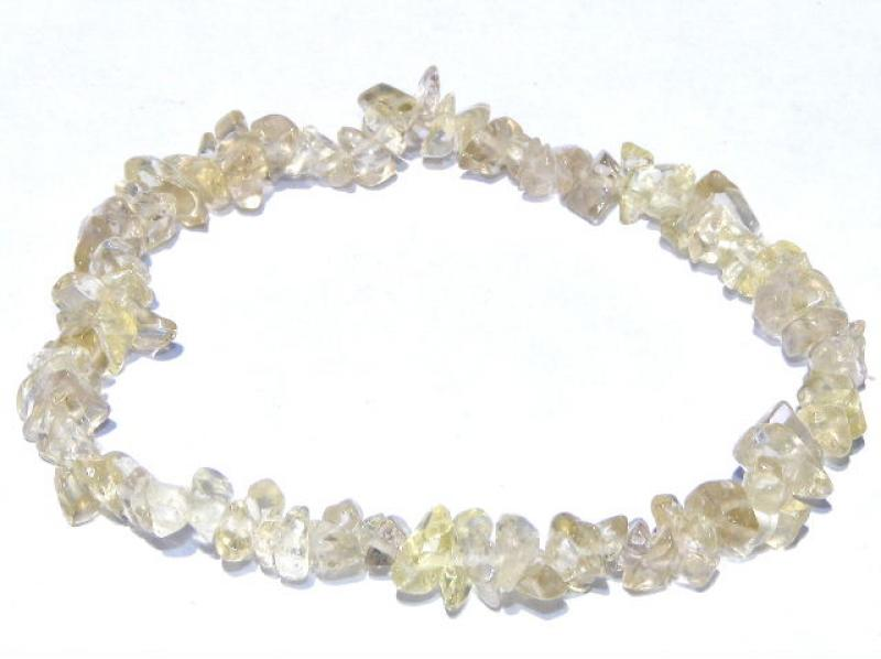 Lemon Quartz Chip Bracelet