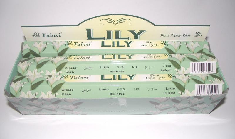 Lily Incense - Box Of 120 Sticks - TULASI