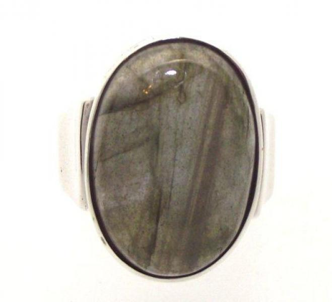 Labradorite Gemstone Ring Size R
