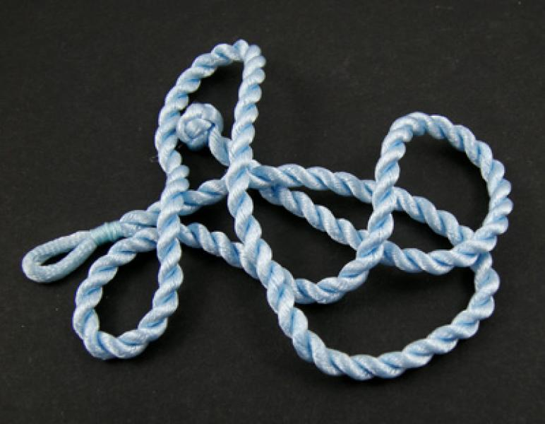 18 Inch Light Blue Twisted Silk Cord Necklace Thong for Pendants