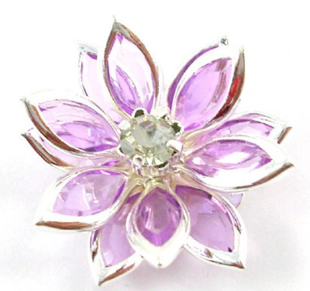 Light Purple Acrylic Flower Focal Point Bead