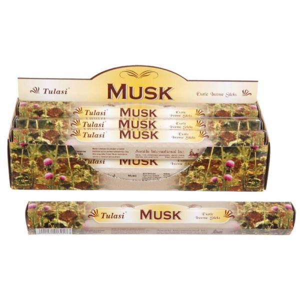 Musk Incense Sticks Full Box 120 Sticks - TULASI