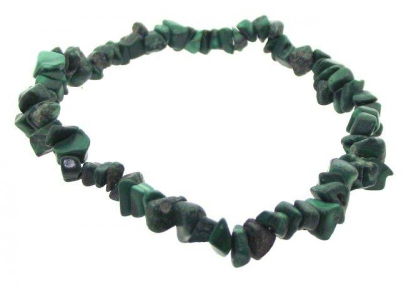 Malachite Gemstone Chip Bracelet