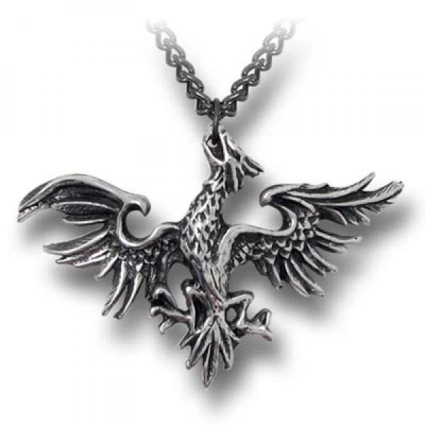 Mettle Eagle Alchemy Gothic Pewter Pendant