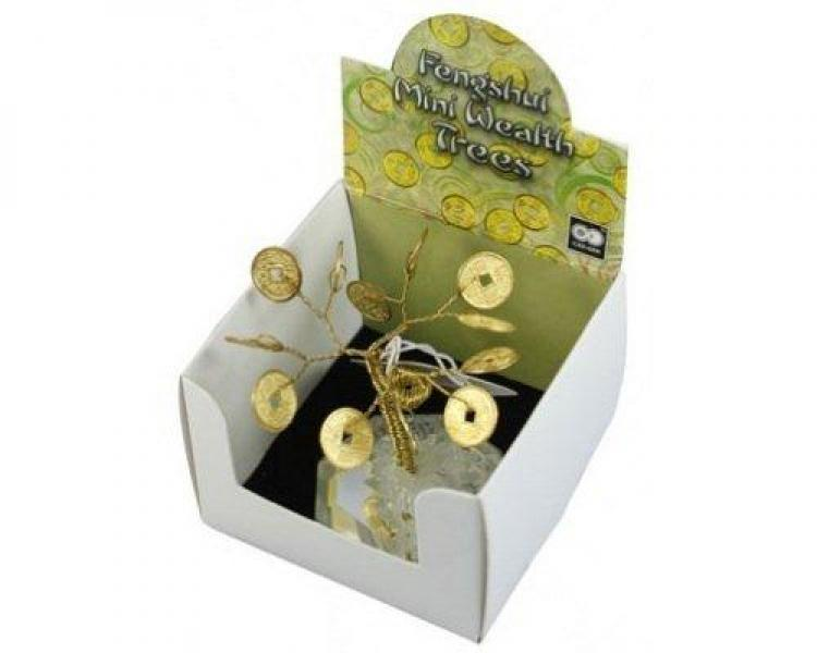 Mini Wealth Chinese Coin Feng Shui Tree Gift Boxed
