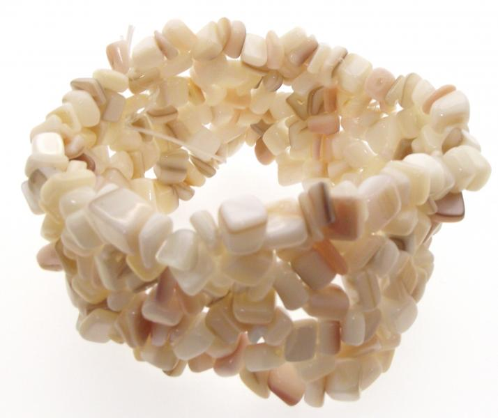 Mother Of Pearl Cuff Chip Bracelet