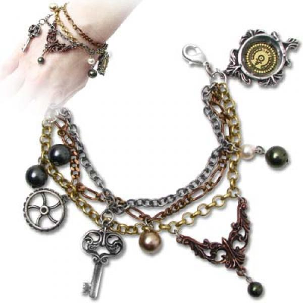 Mrs Hudson's Cellar Keys Alchemy Gothic Pewter Bracelet