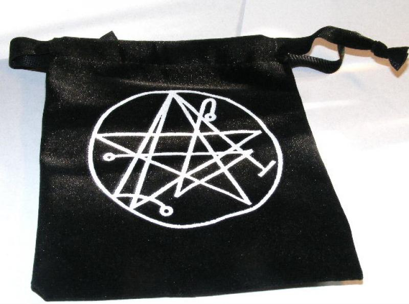 Necronomicon Black Velvet Pouch Crystals Bag