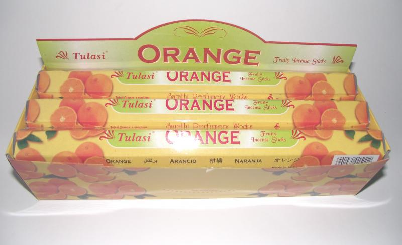 Orange Incense - Box Of 120 Sticks - TULASI