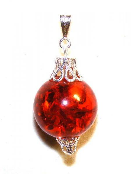 Ornate Amber Resin Pendant